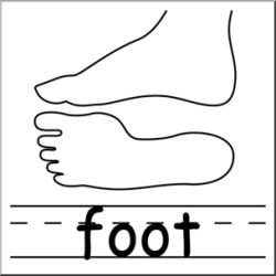 body parts foot clip clipart abcteach clipartmag