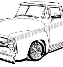 1200x731 1956 ford truck clipart black line high quality [ 1200 x 731 Pixel ]