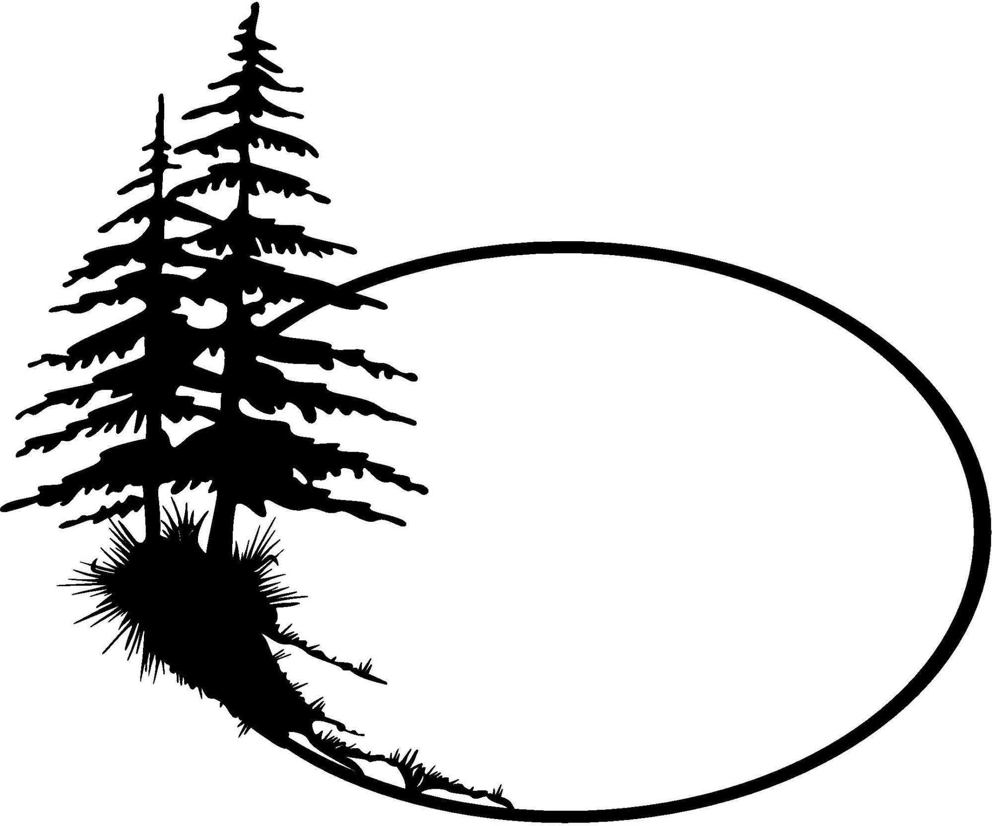 hight resolution of 2144x1784 forest clipart pine tree outline