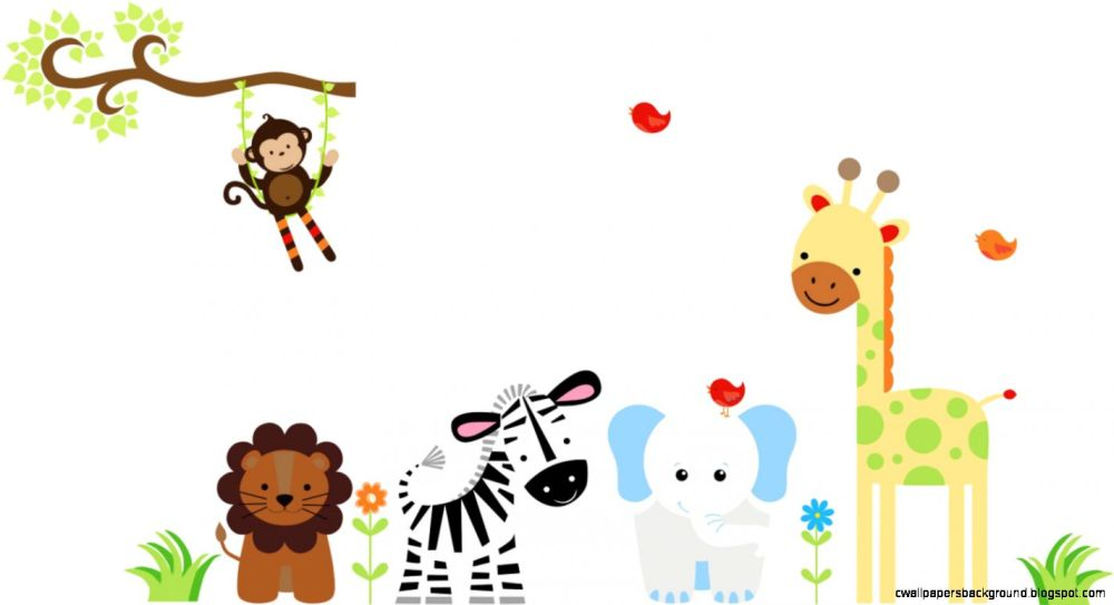 medium resolution of 1425x775 baby animal border clip art