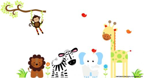 small resolution of 1425x775 baby animal border clip art