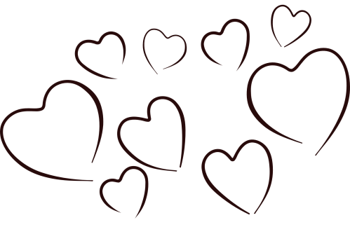 small resolution of 1969x1278 black and white heart clipart