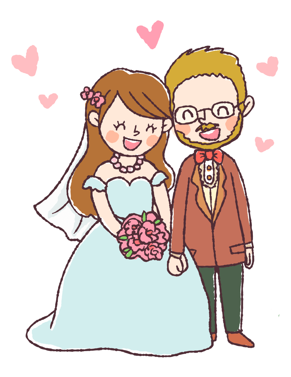 medium resolution of 2550x3300 free digital stamp bride and groom