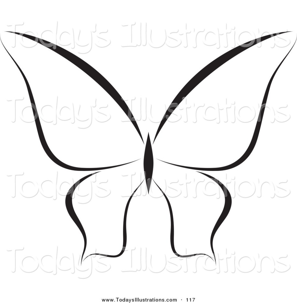 medium resolution of 1024x1044 clipart of a black and white butterfly logo or coloring page by