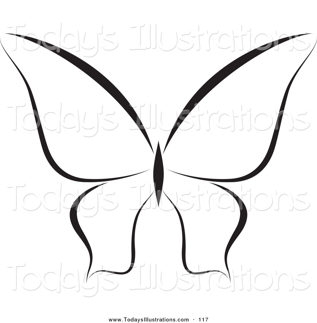 hight resolution of 1024x1044 clipart of a black and white butterfly logo or coloring page by