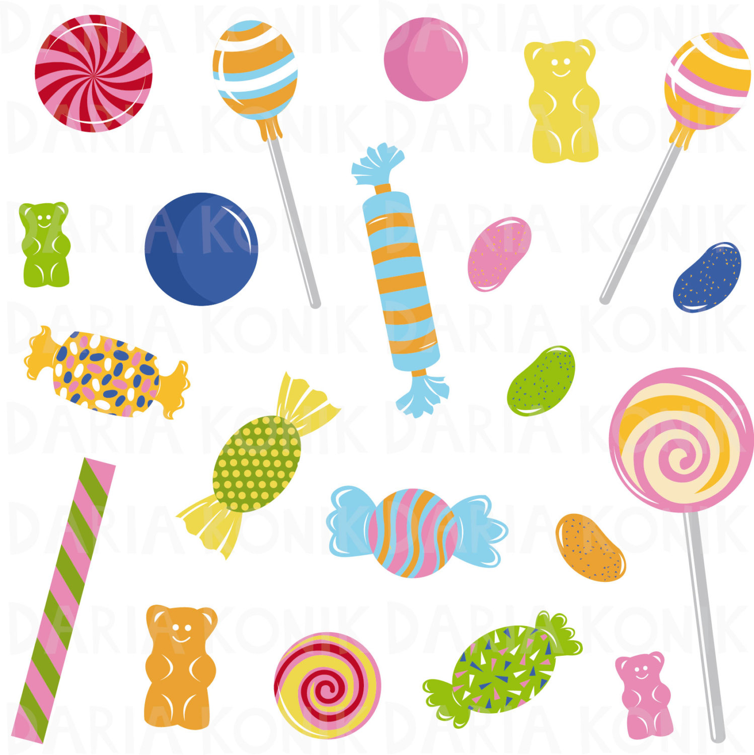 hight resolution of 1498x1500 candy clip art set sweets clipart jelly beans gummy bears