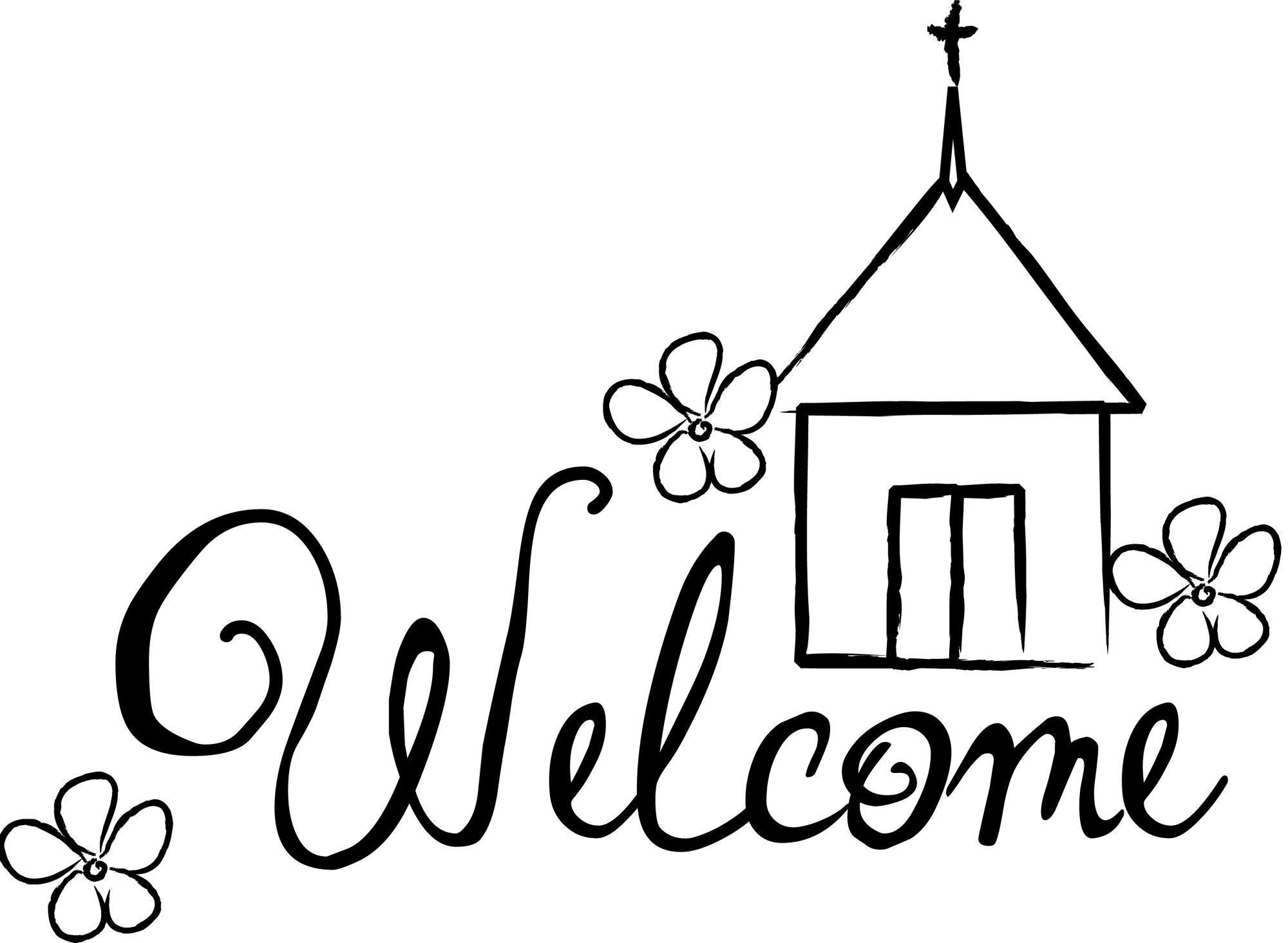 hight resolution of 3300x2417 church welcome cliparts free download clip art