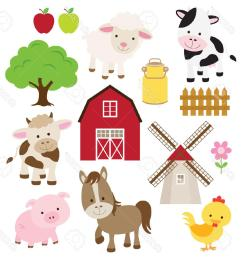 1219x1300 best free vector illustration of farm animals and related items [ 1219 x 1300 Pixel ]