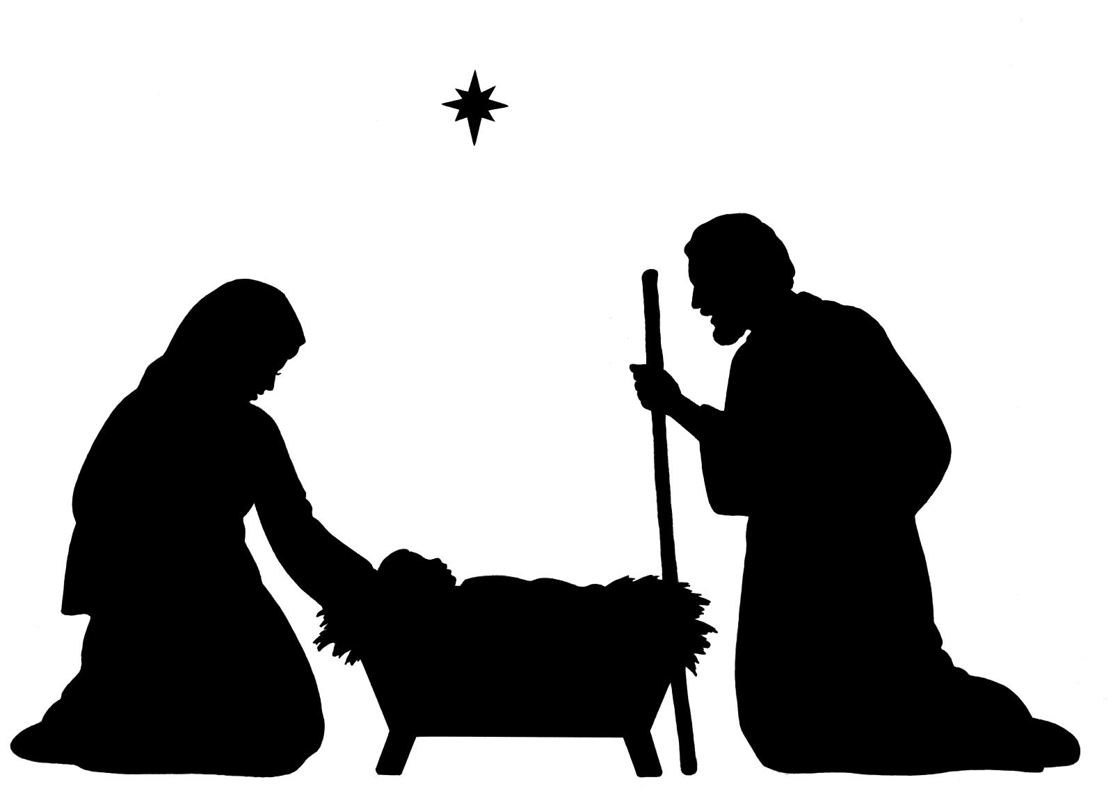 hight resolution of 1600x1148 best silhouette clip art christmas border clipart nativity pictures