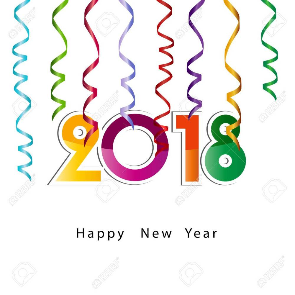 medium resolution of 1300x1300 happy new year 2018 background or element of a holidays card