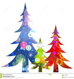 1300x1272 retro christmas trees clip art royalty free stock photos [ 1300 x 1272 Pixel ]