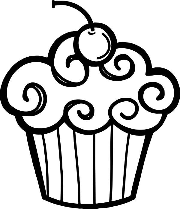 free cupcake clipart black