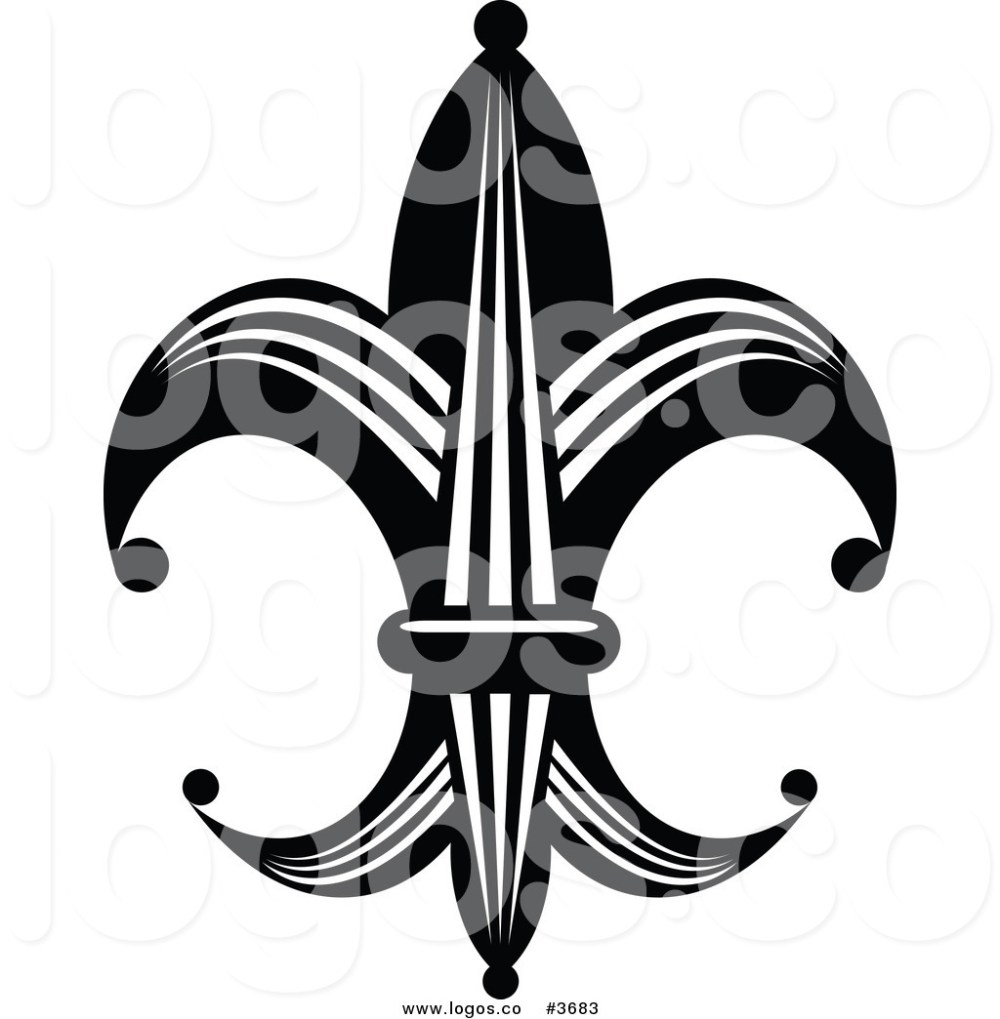 medium resolution of 1024x1044 royalty free fleur de lis element logo by vector tradition sm
