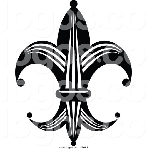 small resolution of 1024x1044 royalty free fleur de lis element logo by vector tradition sm