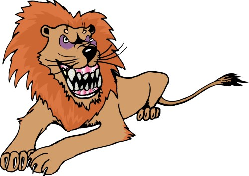 small resolution of 2041x1443 fierce lion clipart free images