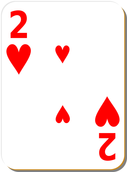 small resolution of 958x1300 playing card free stock photo illustration of a two of hearts