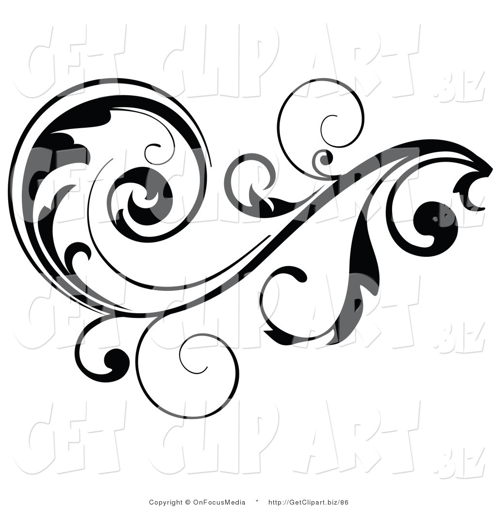 hight resolution of 1024x1044 clip art of a black leafy vine design accent with scrolling leaves
