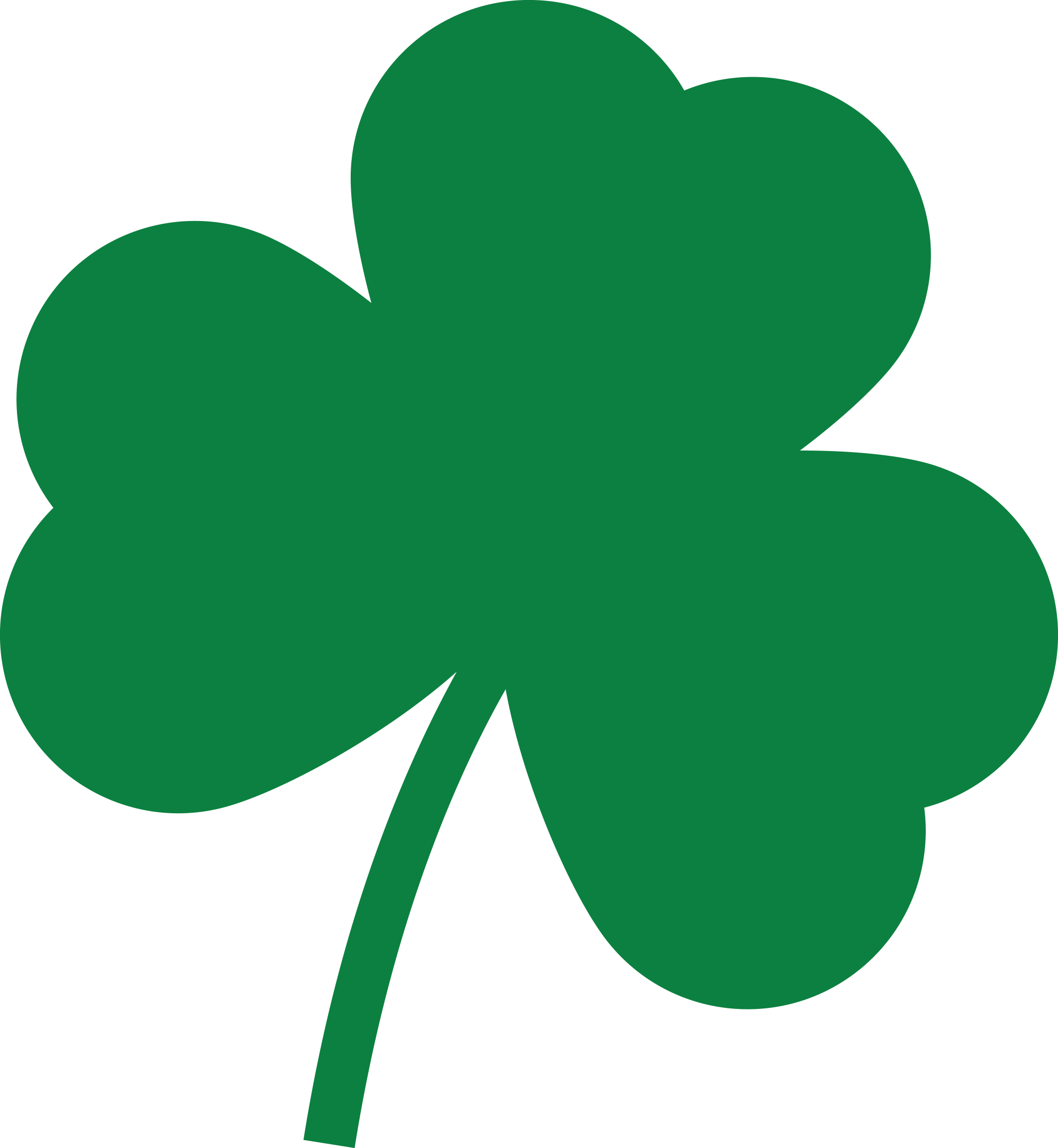 hight resolution of 4000x4342 free clipart of a st paddys day solid green shamrock four leaf clover