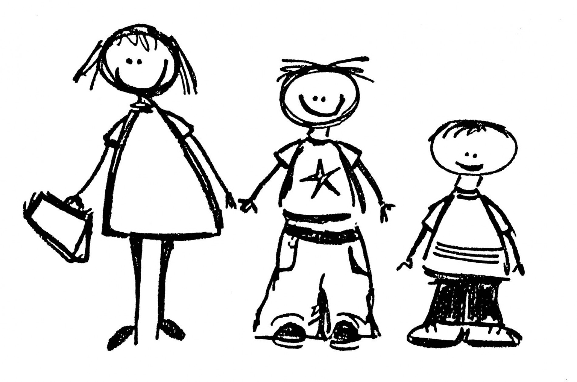 Friends Clipart Black And White