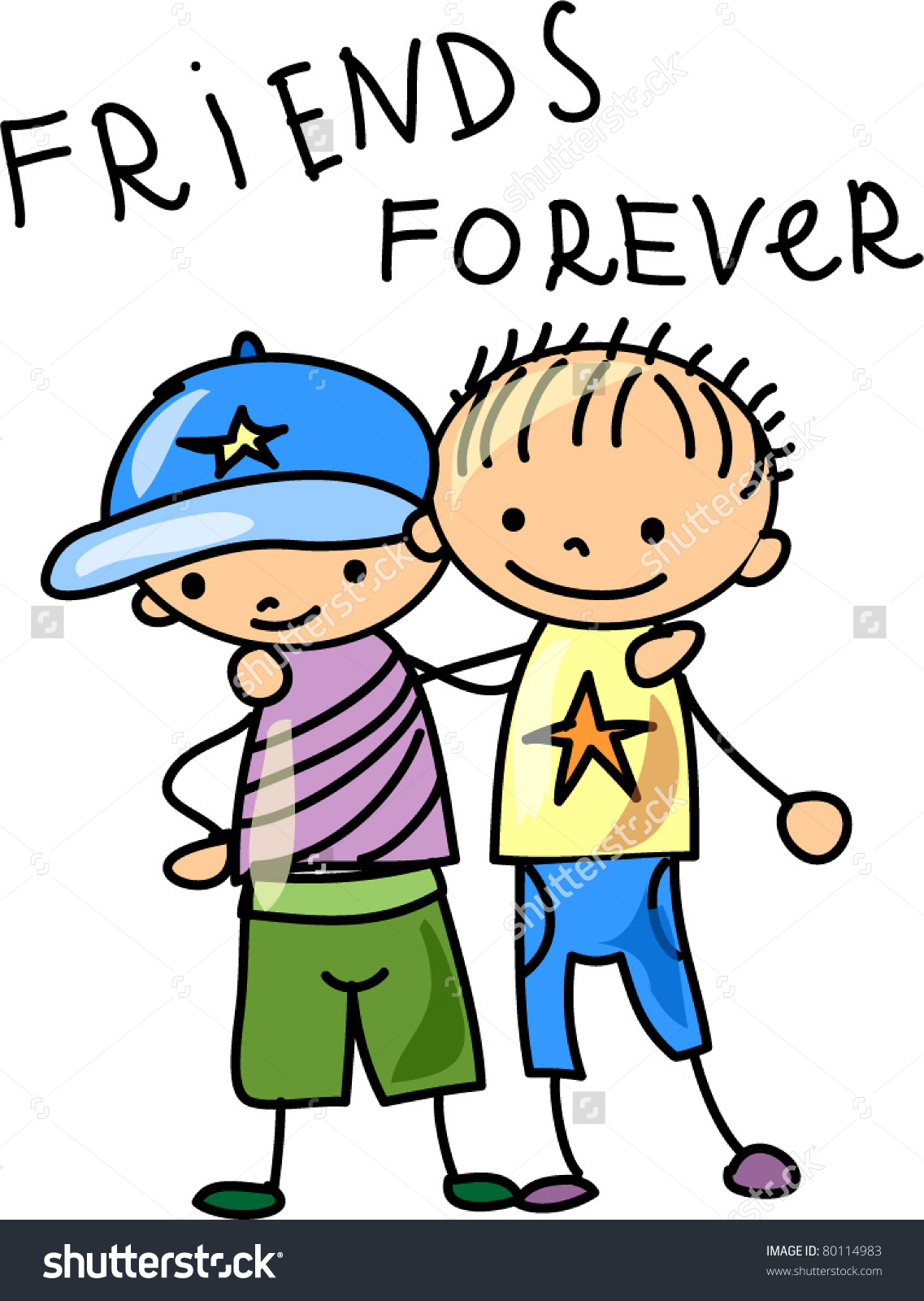 Friends Forever Clipart