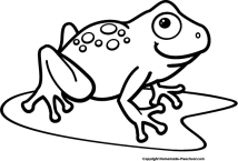 Frog Black And White Clipart Free download best Frog
