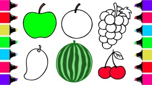 vegetables fruits fruit drawing easy drawings draw