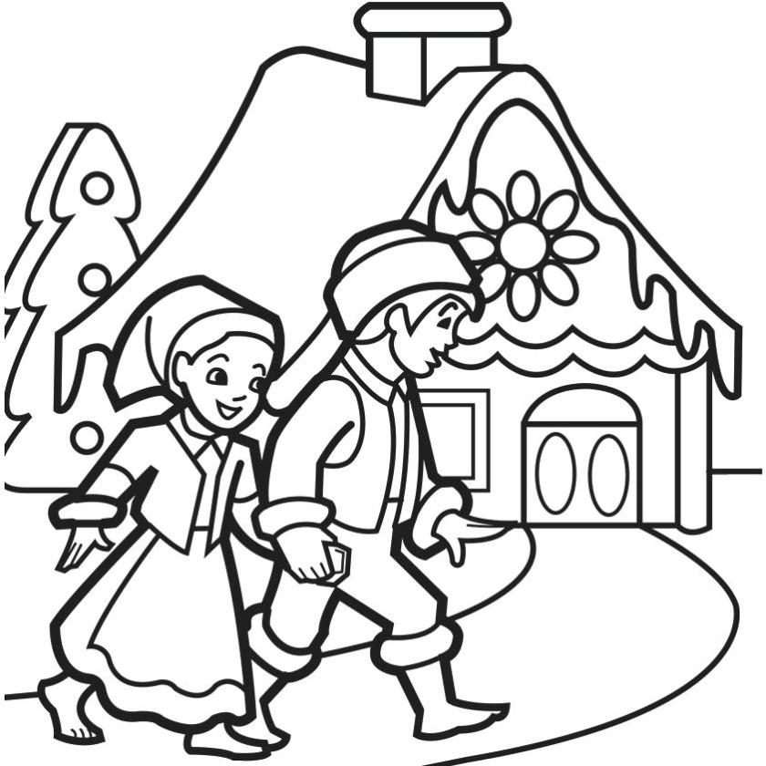 gingerbread house coloring pages  free download on clipartmag