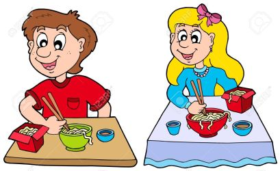 eating clipart lunch food restaurant boy chinese eat clip meal illustration italian asian clipartmag