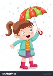 umbrella clipart raincoat rain coat clipartmag