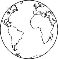 Globe Coloring Page   Free download on ClipArtMag