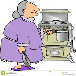 clipart grandma cooking funny grandmother kitchen retirement baking granny royalty illustration stove woman clipartmag cliparts