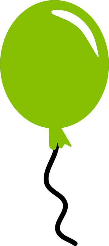 green balloon clipart free