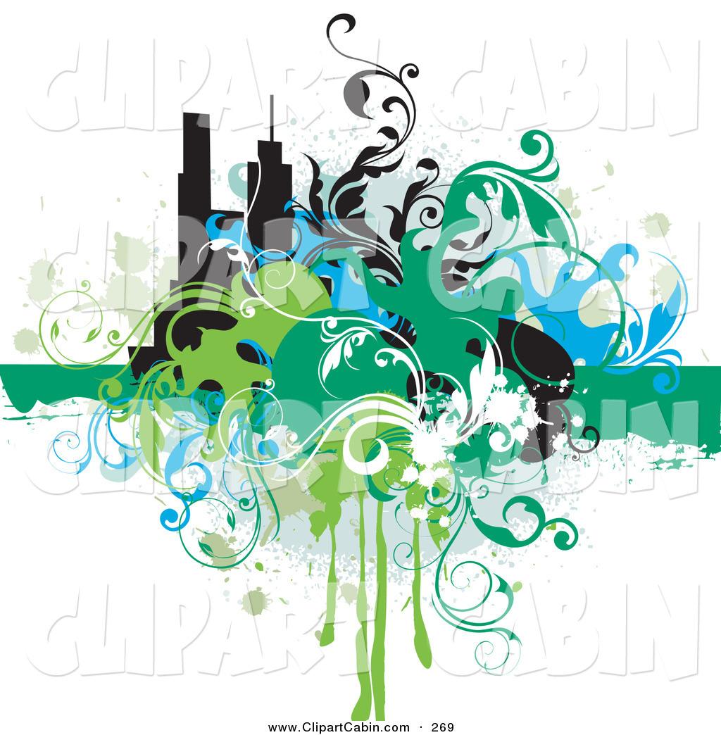 hight resolution of 1024x1044 vector clip art of a splattered grunge background of blue green