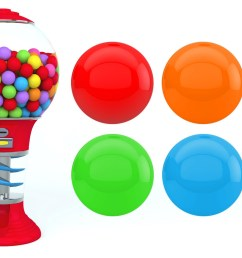 1920x1088 colors for children to learn with gumball machine [ 1920 x 1088 Pixel ]