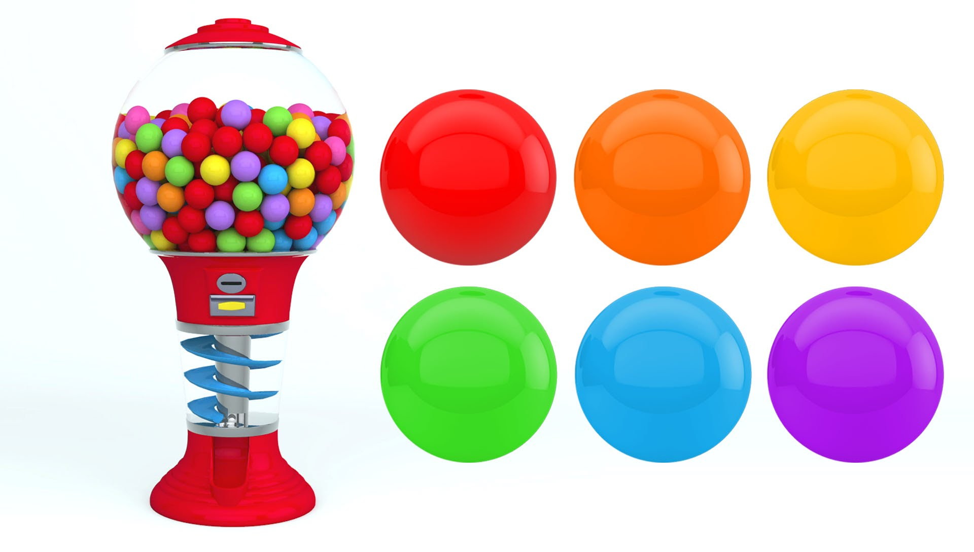 hight resolution of 1920x1088 colors for children to learn with gumball machine