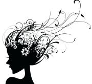 hair salon clipart black and white