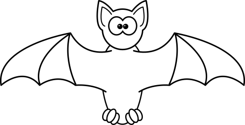 small resolution of 1871x952 bat clipart line drawing