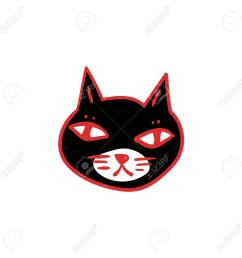 1300x1300 black cat with red eyes witches and witchcraft symbol halloween [ 1300 x 1300 Pixel ]