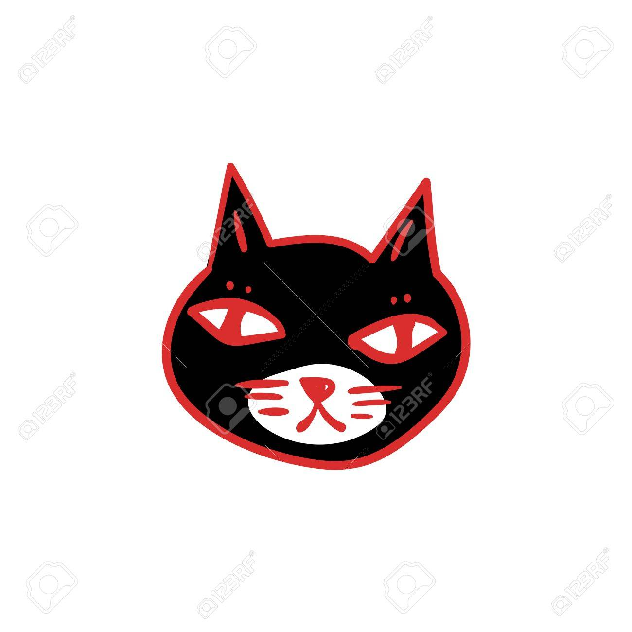 hight resolution of 1300x1300 black cat with red eyes witches and witchcraft symbol halloween