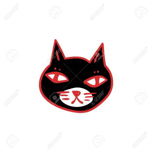 small resolution of 1300x1300 black cat with red eyes witches and witchcraft symbol halloween