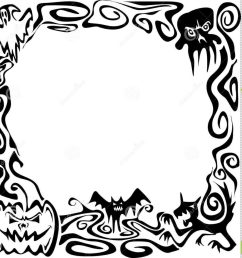 1024x960 uncategorized black and whiteloween border clip art clipart free [ 1024 x 960 Pixel ]