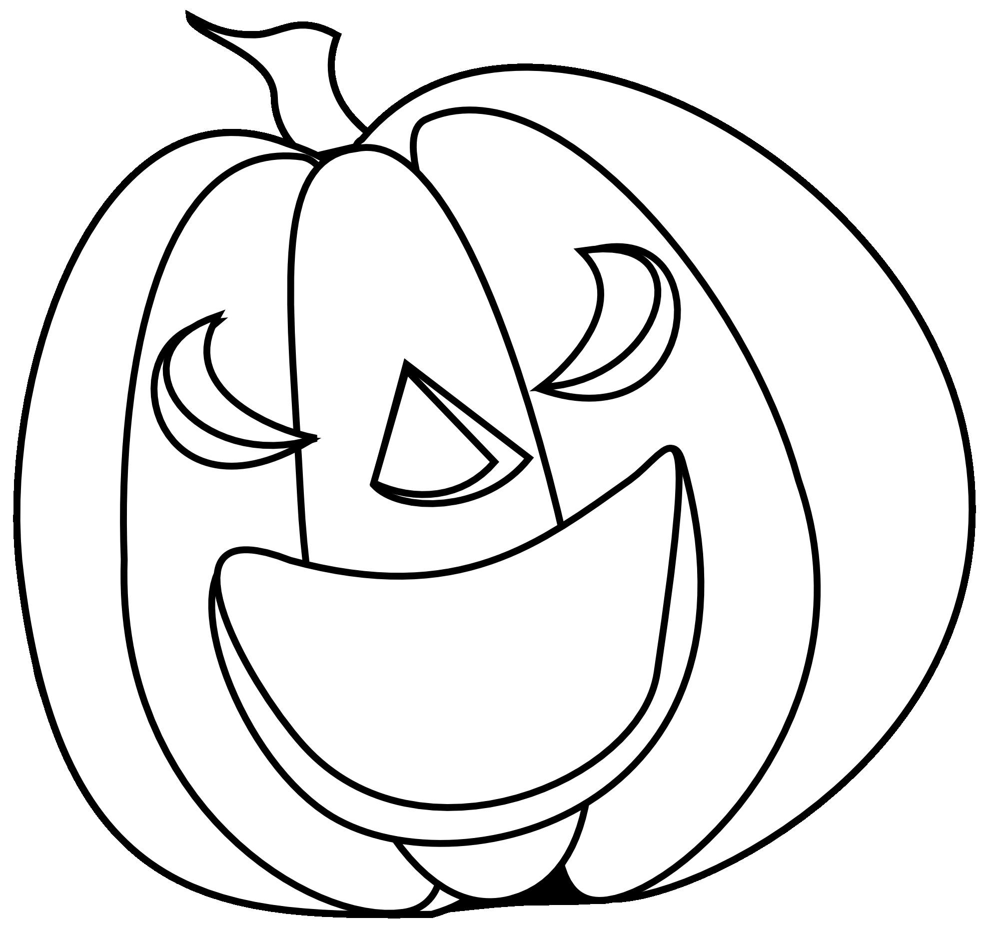 Halloween Pumpkin Clipart Black And White