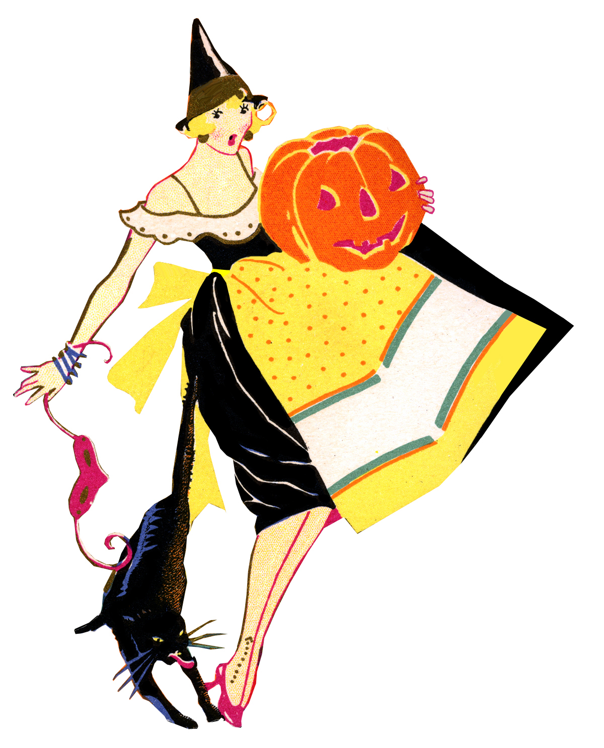 hight resolution of 1200x1486 vintage witch clipart