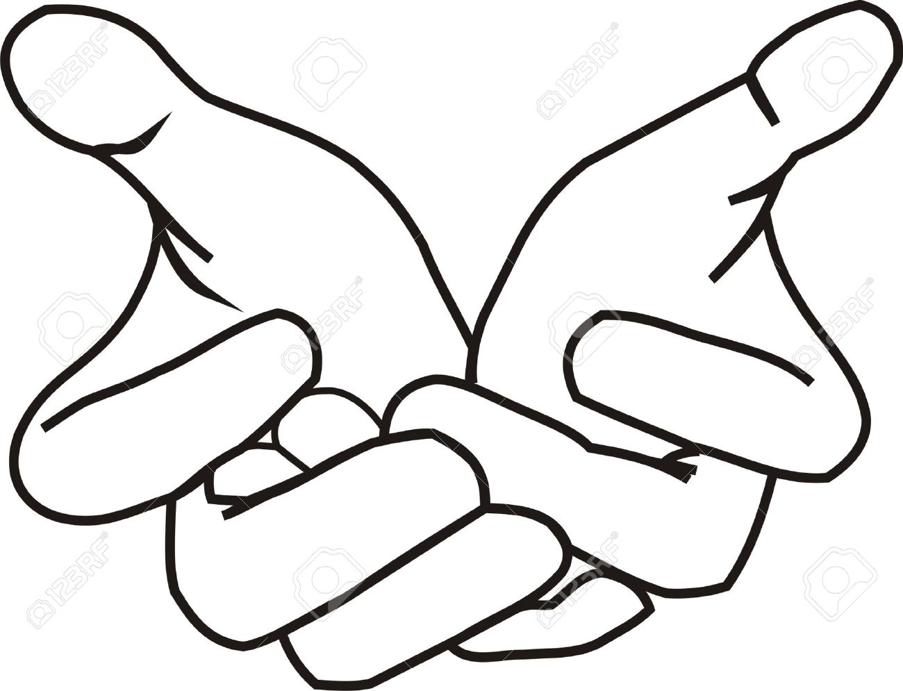 Hands Clipart Black And White