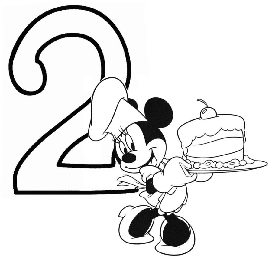 Minnie Mouse Birthday Coloring Novocom Top
