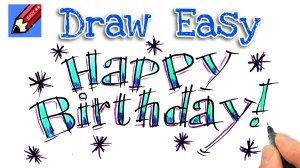 birthday happy draw easy drawing letters beginners bubble clipartmag spoken tutorial getdrawings