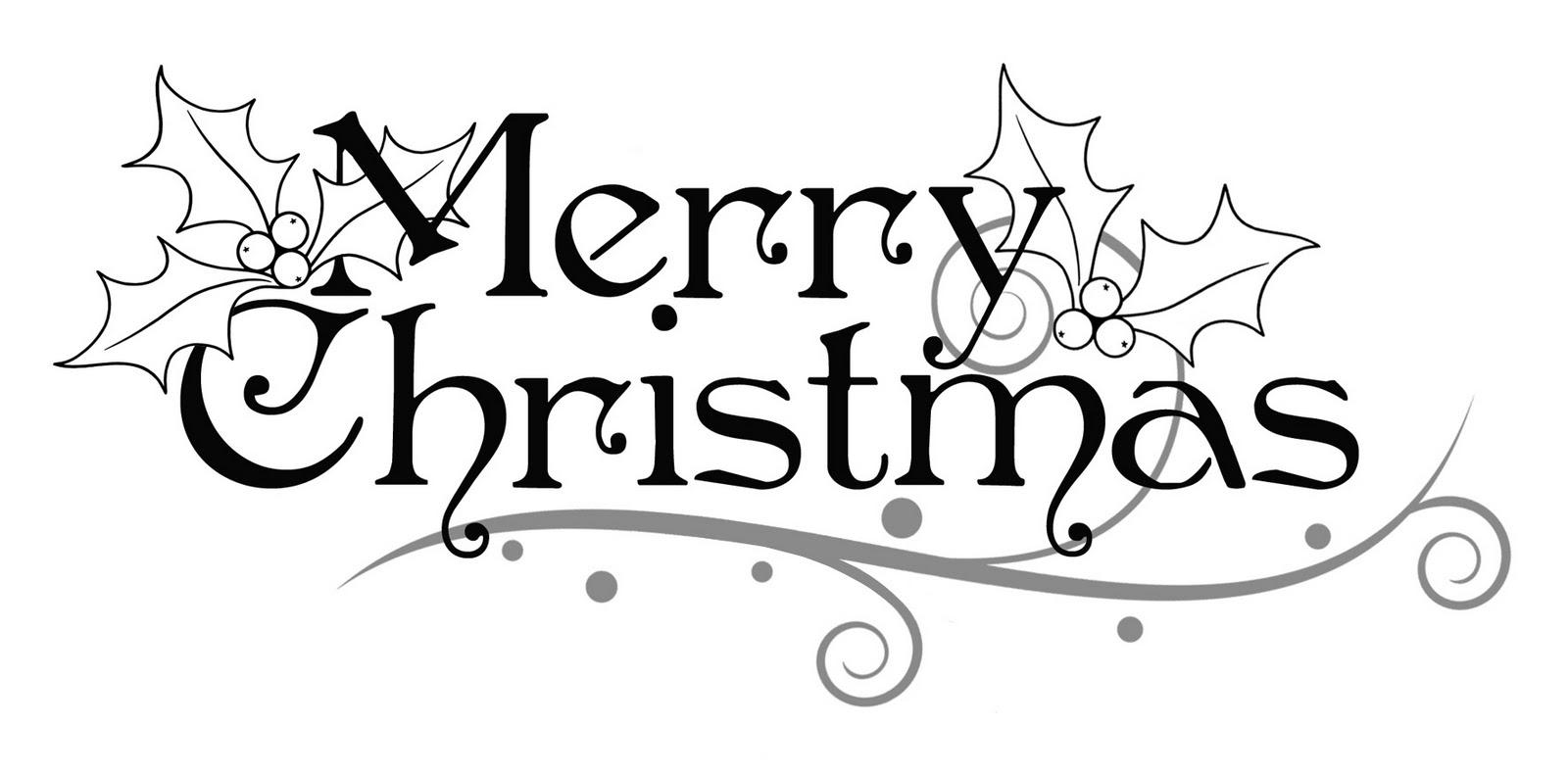 94 Merry Christmas Rustic Clip Art