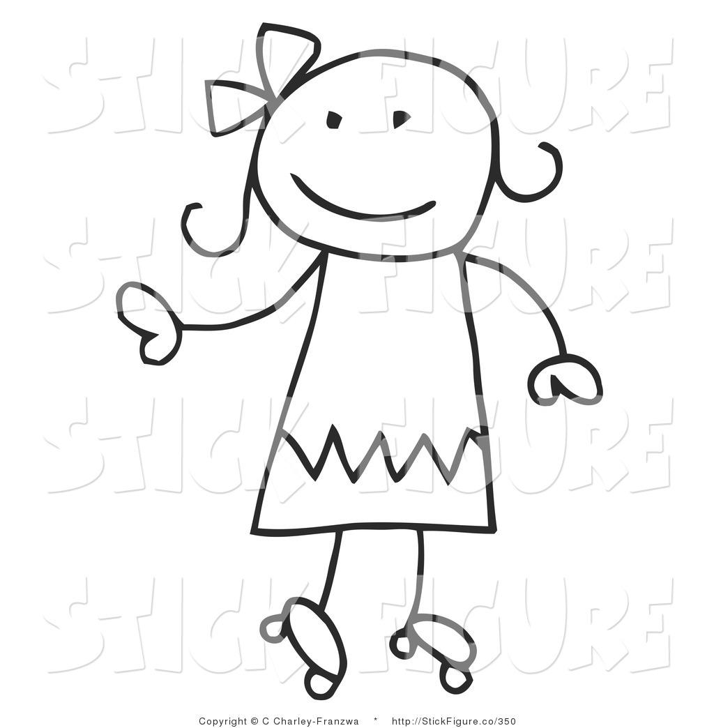 Happy Stick Figure Clipart