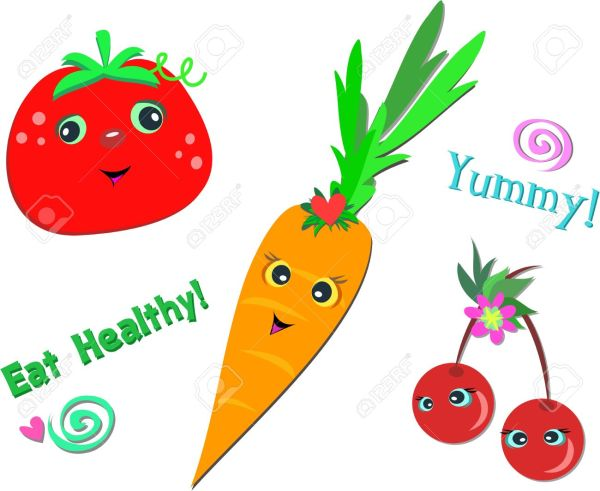 Healthy Snacks Clipart Free