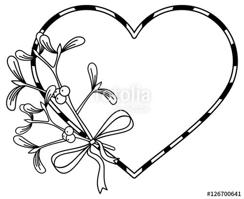 Heart Shaped Tree Silhouette Vector Illustration Isolated